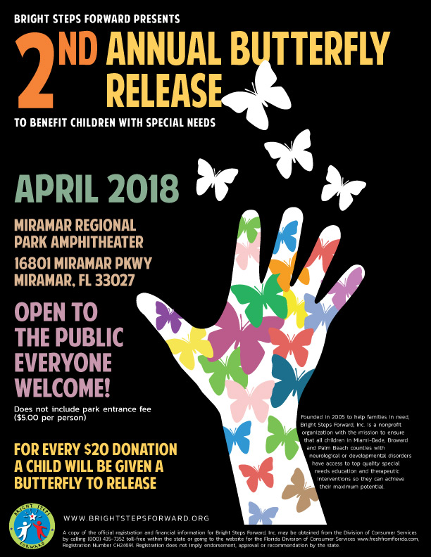 2nd Annual Butterfly Release poster